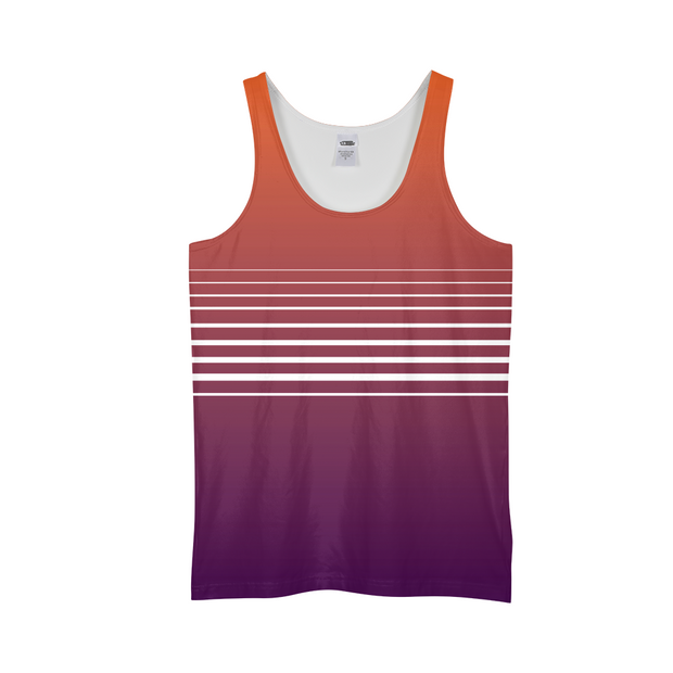 Totally Miami: Sunset Mens All-Over Tank | G.O.A.T. GRAPHICS