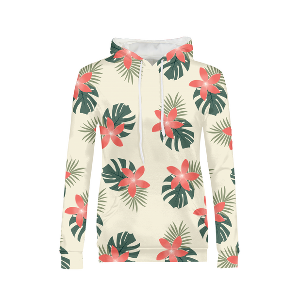Aloha Breeze Ladies Cream All-Over Hoodie | G.O.A.T. GRAPHICS