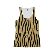 Gold Zebra Stripes Ladies All-Over Tank | G.O.A.T. GRAPHICS