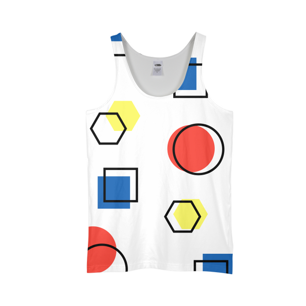 Memphis Style Mens All-Over Tank | G.O.A.T. GRAPHICS
