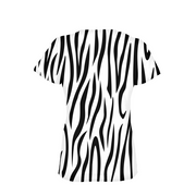 Zebra Stripes Ladies All-Over Tee | G.O.A.T. GRAPHICS