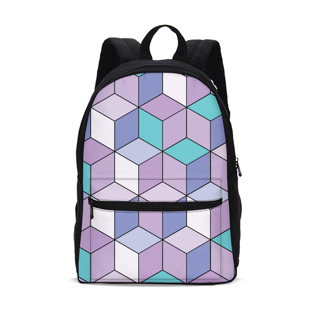 Abstract Cube Pattern Small Backpack | G.O.A.T. GRAPHICS