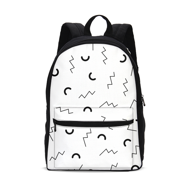 B&W Mini ZigZags Small Backpack | G.O.A.T. GRAPHICS