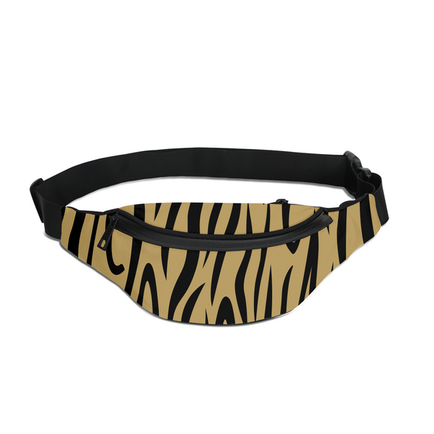 Gold Zebra Stripes Fanny Pack | G.O.A.T. GRAPHICS