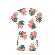 Aloha Breeze Ladies White All-Over Tee | G.O.A.T. GRAPHICS