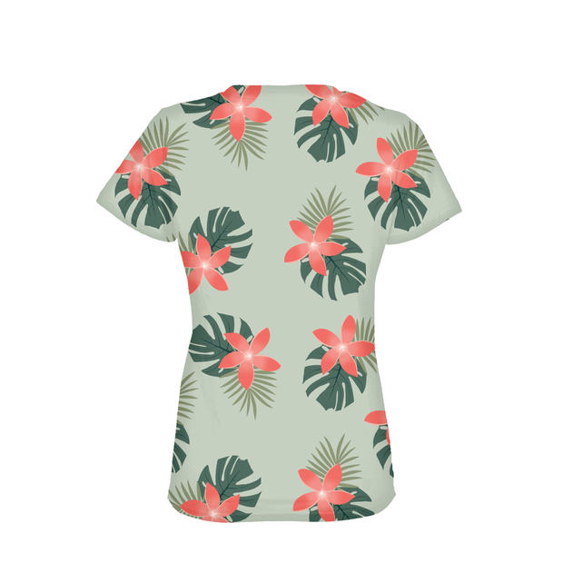 Aloha Breeze Ladies Green All-Over Tee | G.O.A.T. GRAPHICS
