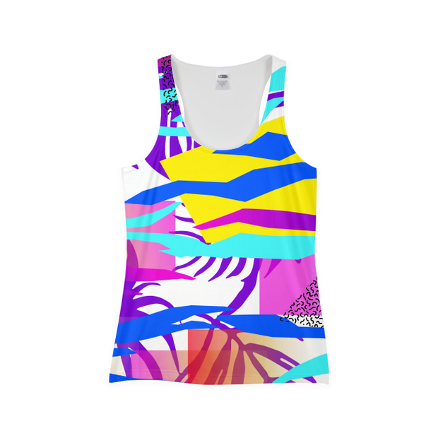 Tropical Vibes Ladies All-Over Tank | G.O.A.T. GRAPHICS