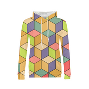 Abstract Cubes Ladies All-Over Hoodie | G.O.A.T. GRAPHICS