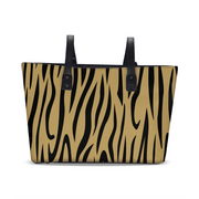 Gold Zebra Stripes Tote | G.O.A.T. GRAPHICS