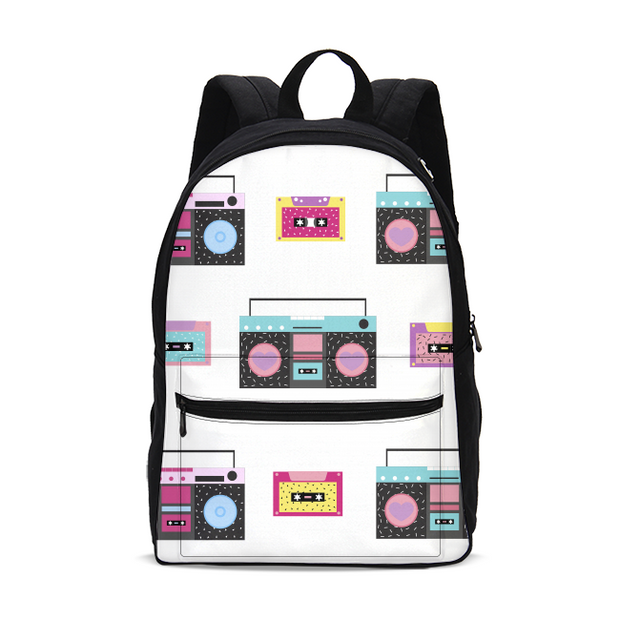 Boombox Pattern Small Backpack | G.O.A.T. GRAPHICS