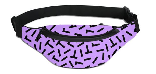 90's Purple Pattern Fanny Pack | G.O.A.T. GRAPHICS