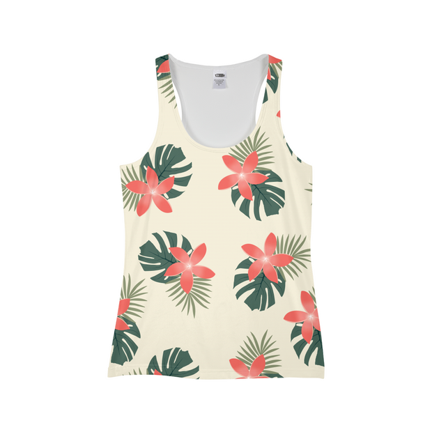 Aloha Breeze Ladies Cream All-Over Tank | G.O.A.T. GRAPHICS