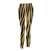 Gold Zebra Stripes Womens Leggings | G.O.A.T. GRAPHICS