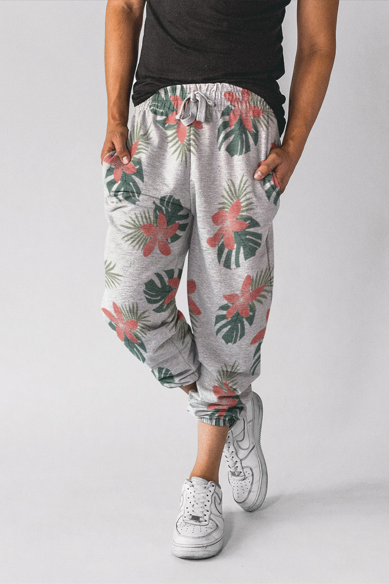 Aloha Breeze Mens White Joggers