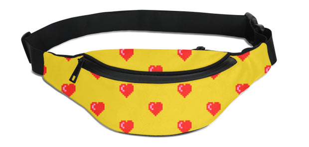 Pixel Hearts Fanny Pack | G.O.A.T. GRAPHICS