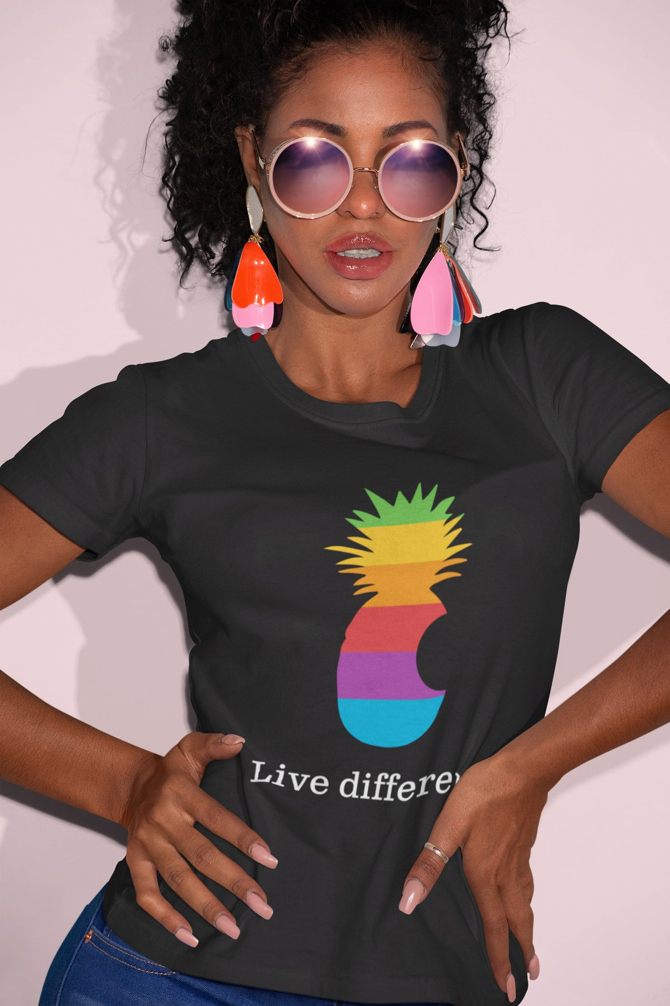 Live Different. Ladies Graphic Tee
