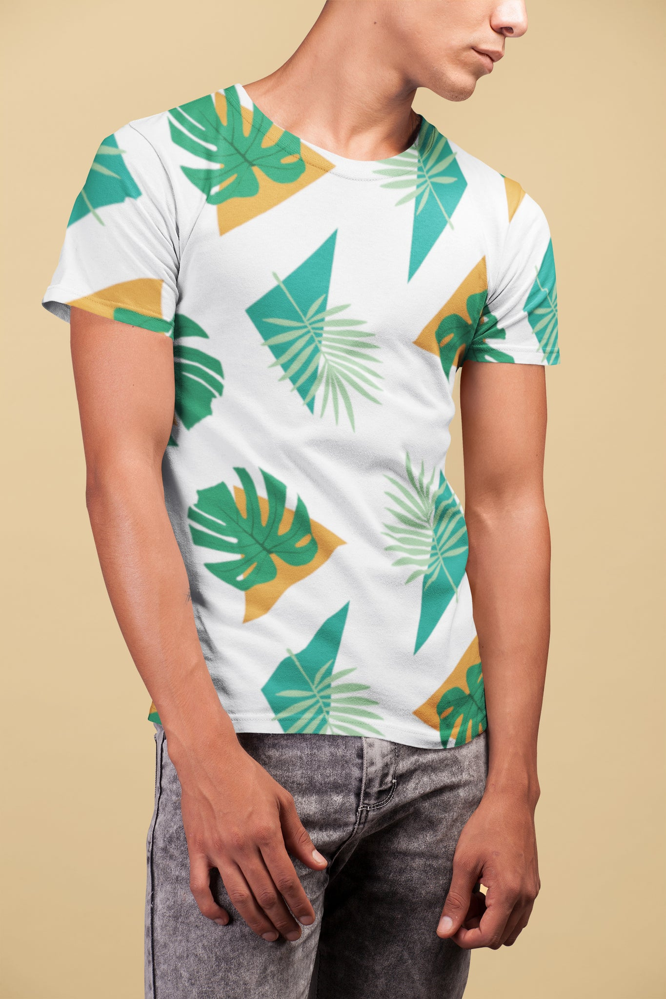 Party Officer Mens White All-Over Tee