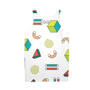 Abstract Shapes Pattern Mens All-Over Tank | G.O.A.T. GRAPHICS