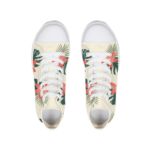 Aloha Breeze Cream High Tops | G.O.A.T. GRAPHICS