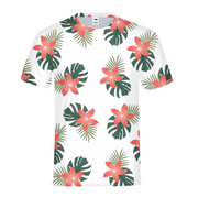 Aloha Breeze Mens White All-Over Tee | G.O.A.T. GRAPHICS
