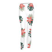 Aloha Breeze Womens White Leggings | G.O.A.T. GRAPHICS