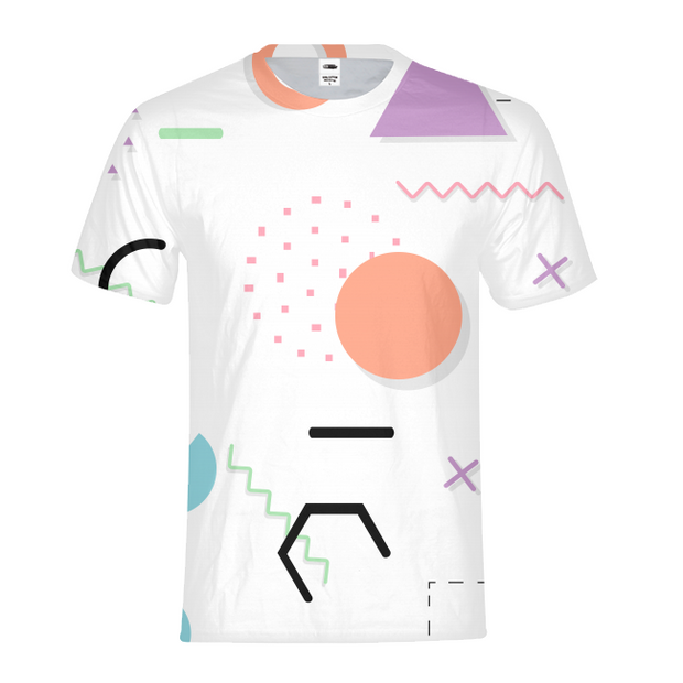 Neon Shapes Mens All-Over Tee | G.O.A.T. GRAPHICS
