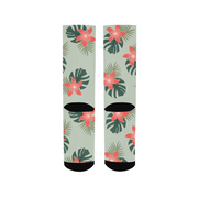 Aloha Breeze Green Socks | G.O.A.T. GRAPHICS