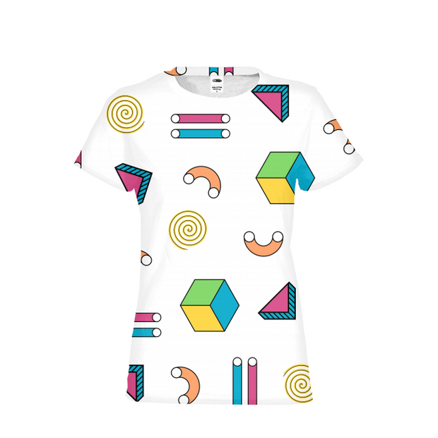Abstract Shapes Ladies All-Over Tee | G.O.A.T. GRAPHICS