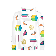 Abstract Shapes Ladies All-Over Hoodie | G.O.A.T. GRAPHICS