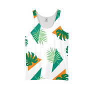 Party Officer Mens White All-Over Tank | G.O.A.T. GRAPHICS