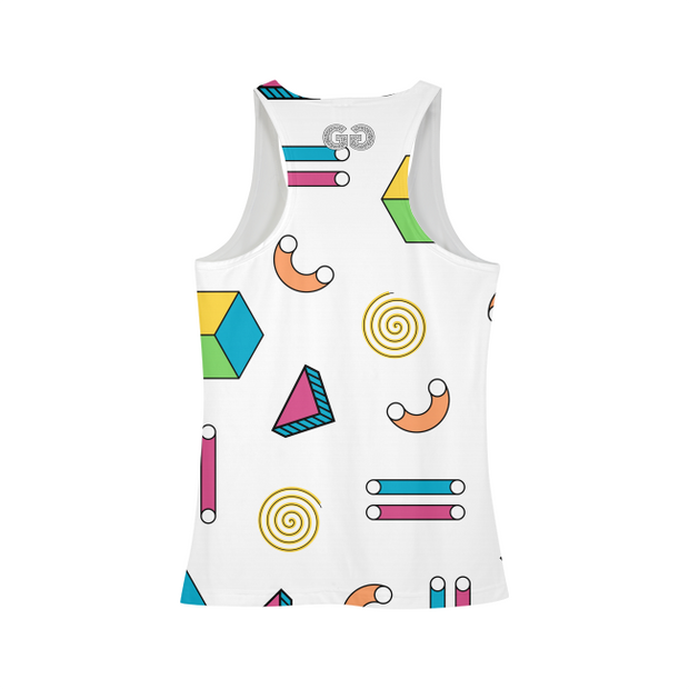 Abstract Shapes Ladies All-Over Tank | G.O.A.T. GRAPHICS