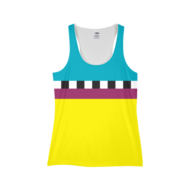 Hit the Slopes: Hazard Horizon Ladies All-Over Tank | G.O.A.T. GRAPHICS