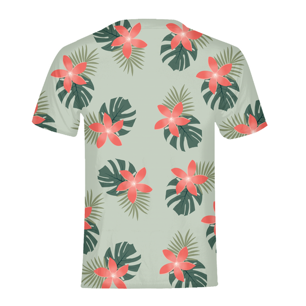 Aloha Breeze Mens Green All-Over Tee | G.O.A.T. GRAPHICS