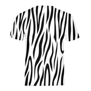 Zebra Stripes Mens All-Over Tee | G.O.A.T. GRAPHICS