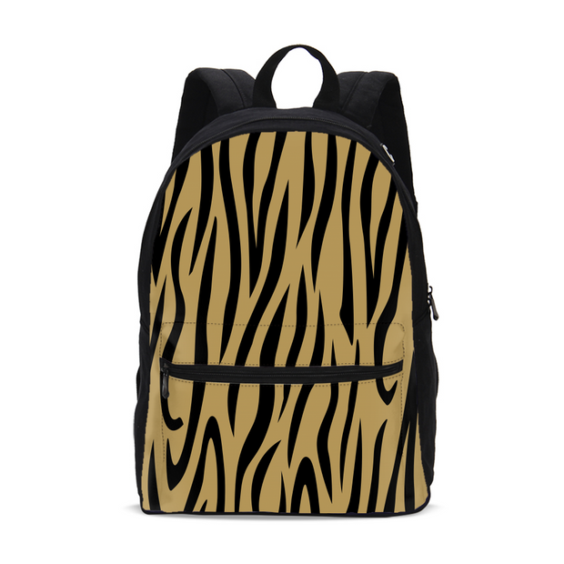 Gold Zebra Stripes Small Backpack | G.O.A.T. GRAPHICS