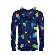 Splash That Geo: Ocean Reef Mens All-Over Hoodie | G.O.A.T. GRAPHICS