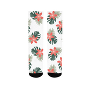 Aloha Breeze White Socks | G.O.A.T. GRAPHICS
