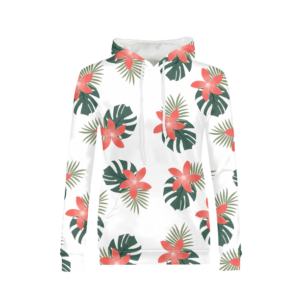 Aloha Breeze Ladies White All-Over Hoodie | G.O.A.T. GRAPHICS