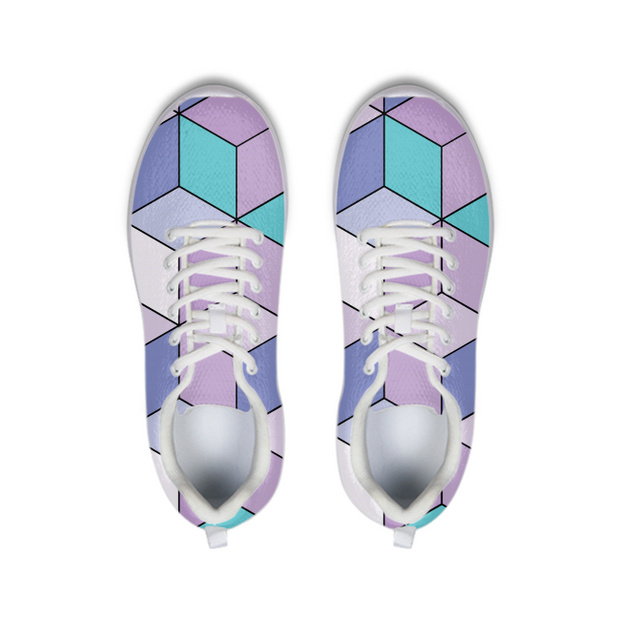 Abstract Cube Pattern Running Shoes | G.O.A.T. GRAPHICS