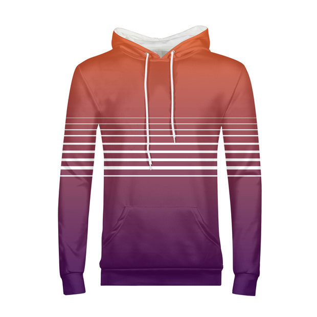 Totally Miami: Sunset Mens All-Over Hoodie | G.O.A.T. GRAPHICS