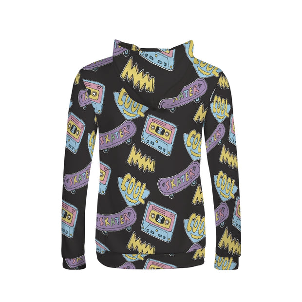 Cool Skater Pattern Women's Hoodie | G.O.A.T. GRAPHICS