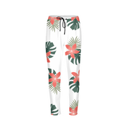 Aloha Breeze Mens White Joggers | G.O.A.T. GRAPHICS