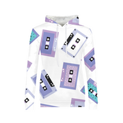 Cassette Tapes Pattern Ladies All-Over Hoodie | G.O.A.T. GRAPHICS