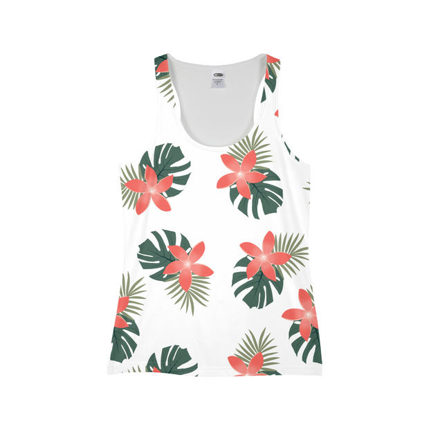 Aloha Breeze Ladies White All-Over Tank | G.O.A.T. GRAPHICS