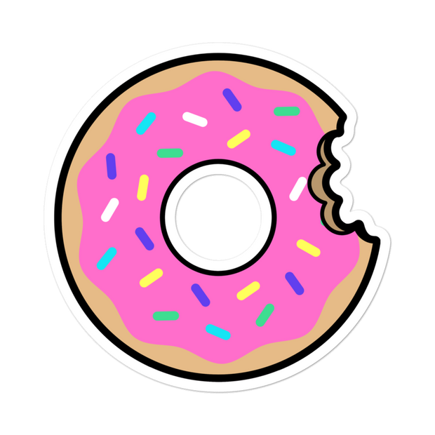 Bit Donut Bubble-free Sticker | G.O.A.T. GRAPHICS