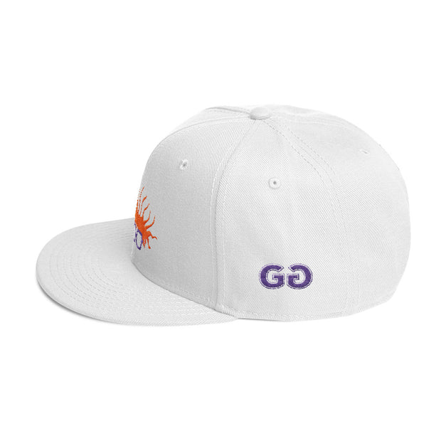 Chuckaroo's Head White Snapback | G.O.A.T. GRAPHICS