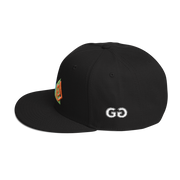 SwirledShapes Black Snapback | G.O.A.T. GRAPHICS