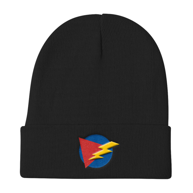 ThunderBolt Black Beanie | G.O.A.T. GRAPHICS