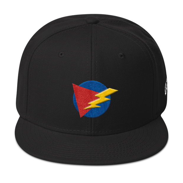 ThunderBolt Black Snapback | G.O.A.T. GRAPHICS