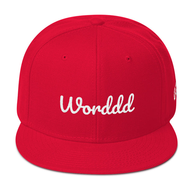 Worddd Red Snapback | G.O.A.T. GRAPHICS